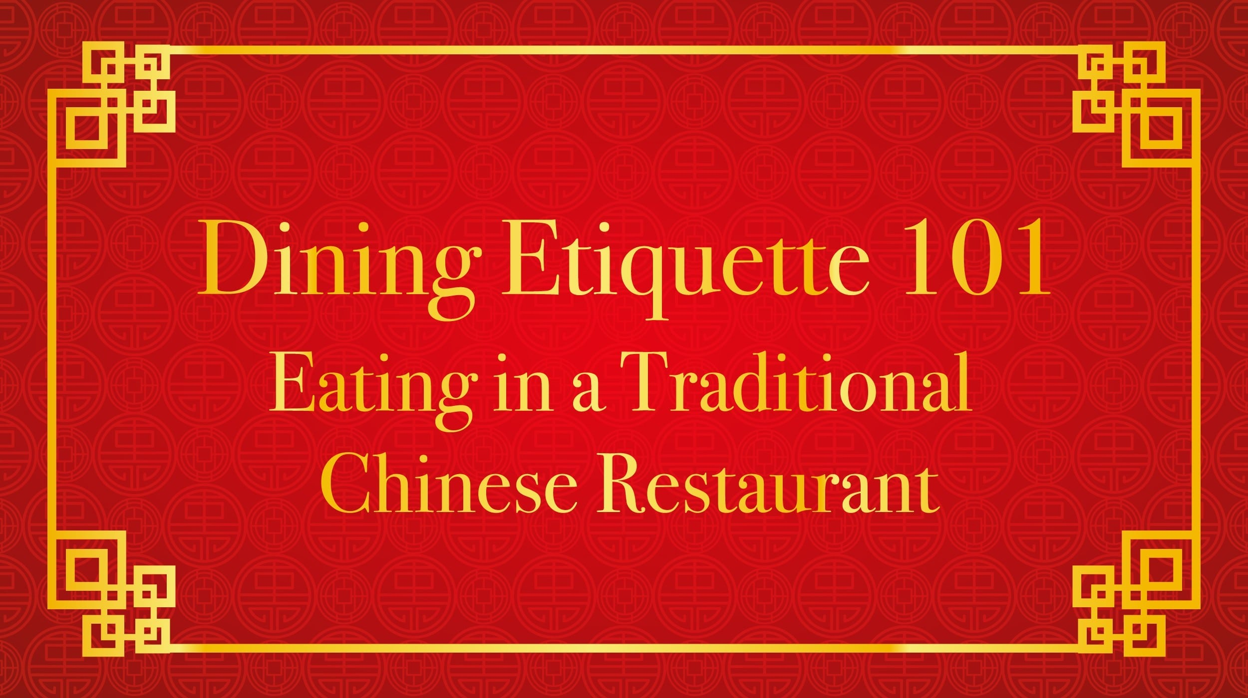 Eating in a Traditional Chinese Restaurant